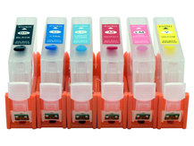 Refillable Cartridges for CANON CLI-8 (6 Cartridges)