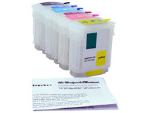 Refillable Cartridges for HP DesignJet 10, 20, 50, 120
