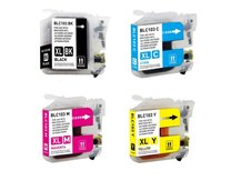 Special Set of 4 Compatible Cartridges to replace BROTHER LC103