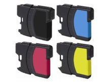 Special Set of 4 Compatible Cartridges to replace BROTHER LC61
