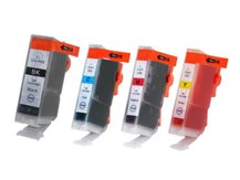 Special Set of 4 Compatible Cartridges to replace CANON BCI-3/5/6 (eBK, C, M, Y)