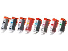 Special Set of 8 Compatible Cartridges to replace CANON BCI-3/6 (BK, C, G, M, PC, PM, R, Y)