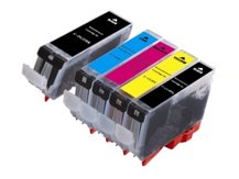 Special Set of 5 Compatible Cartridges to replace CANON CLI-8/PGI-5 (2BK, C, M, Y)