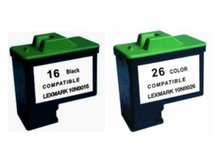 Special Set of 2 Remanufactured Cartridges to replace LEXMARK #16 and #26